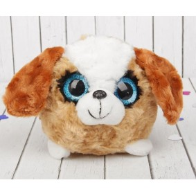 """Мягкая игрушка """"Большеглазый пёсик"""", белый лобик (12 см)"""