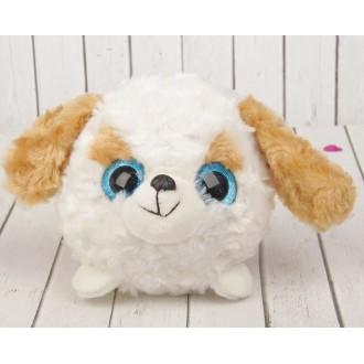 """Мягкая игрушка """"Большеглазый пёсик"""", белая мордочка (12 см)"""