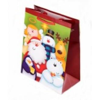 Новогодний подарочный пакет 19x23