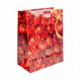 Новогодний подарочный пакет 19*23 см
