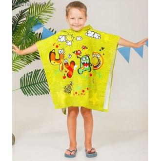 """Детское полотенце-пончо с капюшоном """"Collorista"""" Чудо 60 х 120 см, хлопок"""