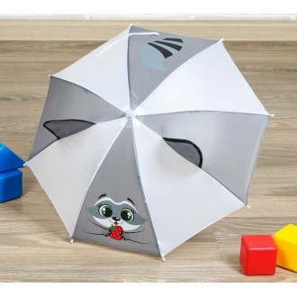 """Зонт детский механический """"Енотик"""", r=26см, 1-2 года"""