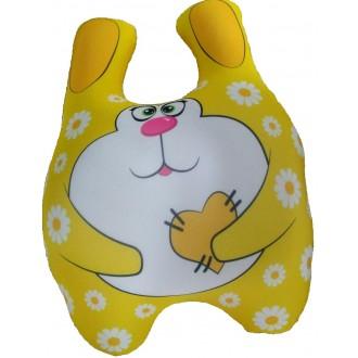 Игрушка-антистресс Зайка Мими желтый 25 см