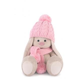 Зайка Ми в розовой шапочке и шарфе (22 см)