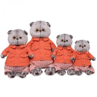 Кот Басик в оранжевой куртке и штанах (19 см)