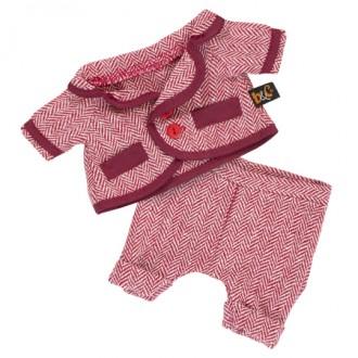 Красный пиджак и брюки в ёлочку BudiBasa для Басика 22 см
