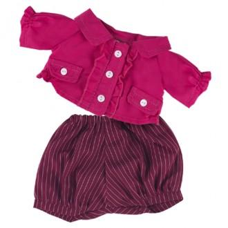 Малиновая курточка и шортики BudiBasa для Зайки Ми 18 см