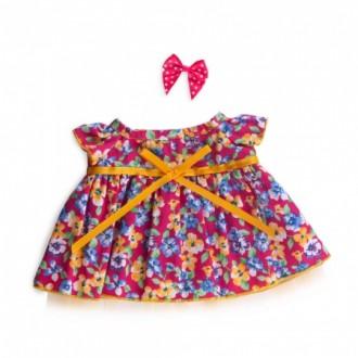 Платье ярко-розовое в цветочек BudiBasa для Ли-Ли 24 см