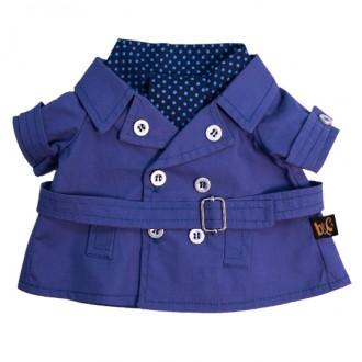 Темно-синий плащ и галстук BudiBasa для Басика 30 см