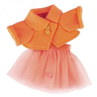 Оранжевая курточка и юбка BudiBasa для Зайки Ми 23 и 32 см