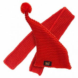 Оранжевая вязаная шапка и шарф BudiBasa для Басика 25 см