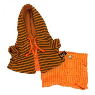 Оранжевые штаны и толстовка с капюшоном BudiBasa для Басика 25 см
