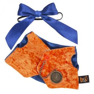 Оранжевый жилет с часами BudiBasa для Басика 22 см