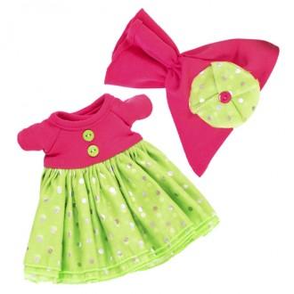 Платье с пышной юбкой и малиновая шапочка BudiBasa для Зайки Ми 18 и 25 см