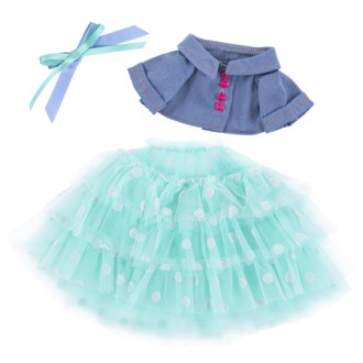 Джинсовая курточка и юбка из сетки для Зайи Ми 18 и 25 см