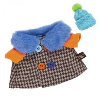 Пальто BudiBasa для Басика 25 см с разноцветными пуговицами