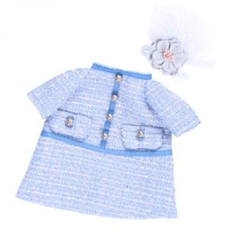 Платье голубое в клетку BudiBasa для Зайки Ми 23 и 32 см