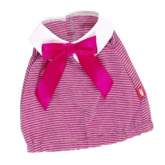 Платье в розовую полоску BudiBasa для Зайки Ми 18 и 25 см