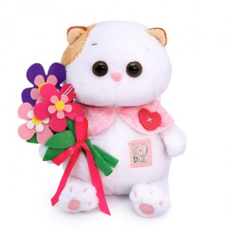 Кошечка Ли-Ли BABY с цветами из фетра (20 см)