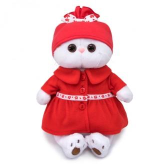 Кошечка Ли-Ли в красном пальто (27 см)