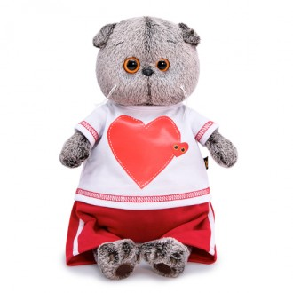 Кот Басик в футболке с сердцем (22 см)