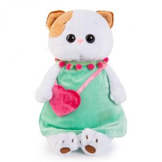 Кошечка Ли-Ли в мятном платье с розовой сумочкой (27 см)