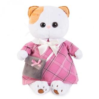 Кошечка Ли-Ли в розовом платье с серой сумочкой (27 см)