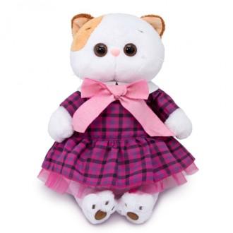 Кошечка Ли-Ли в платье в клетку (24 см)