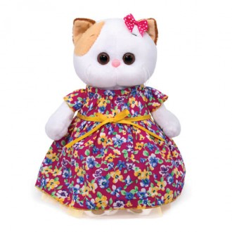 Кошечка Ли-Ли в платье с цветочным принтом (24 см)