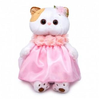 Кошечка Ли-Ли в платье с объемными цветами (24 см)
