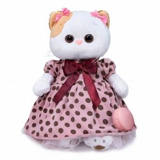Кошечка Ли-Ли в розовом платье в горох (24 см)