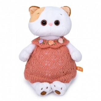 Кошечка ЛиЛи в вязаном платье (24 см)