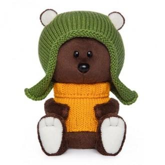 Медведь Федот в шапочке и свитере (15 см)