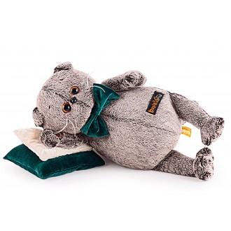 Басик на зелёной бархатной подушке (19 см)