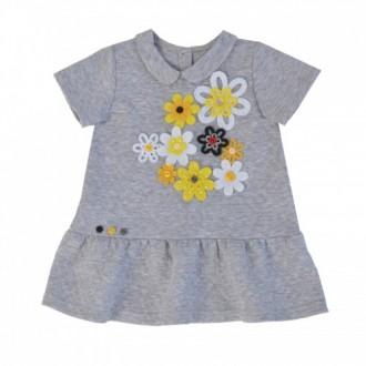 """Платье- распашонка с цветочками из коллекции """"My Little Flower"""" (р-р 074)"""