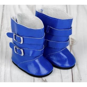 Сапоги для пупсов и игрушек 27-30 см «Застёжки», длина подошвы: 7 см, цвет синий