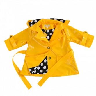 """Плащ желтый для девочки из коллекции """"Little Lady"""" (р-р 074)"""
