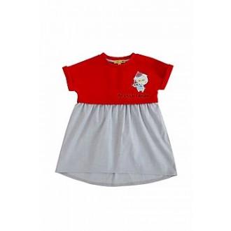 """Платье комбинированное K116 из коллекции """"My Little Captain"""" (р-ры: 080,098)"""