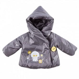 """Курточка для девочки """"лаке"""" из коллекции """"My Little Flower"""" (р-ры: 074,080,086,092,098)"""