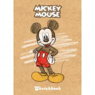 Premium` Бизнес-блокнот SketchBook 80л А6ф без линовки тв.переплет -Микки Маус-( DISNEY)