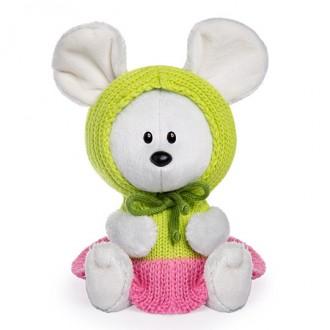 Мышка Пшоня в платье с капюшоном (15 см)