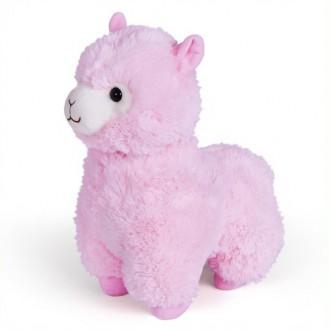 """Гламурная мягкая игрушка FANCY """"Альпака"""" розовая, 28 см"""