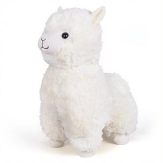 "Гламурная мягкая игрушка FANCY ""Большая Альпака"" белая, 38 см"