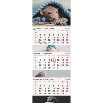 Календарь квартальный Мышкин мир 2020