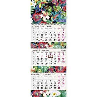 Календарь квартальный Тукан в тропиках 2020