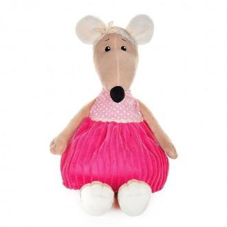 Крыска Анфиса в розовом платье (21 см)