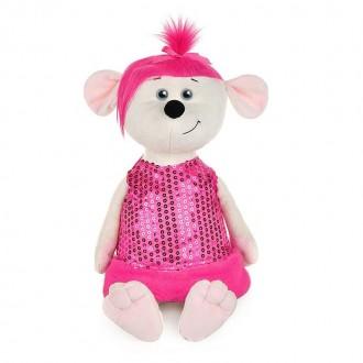 Мышка Аллочка в розовом платье (28 см)