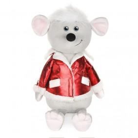 Мышонок Виталик в красной куртке (28 см)