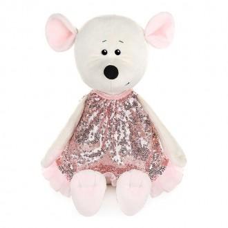 Мышка Мила в розовом платье (21 см)