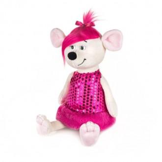 Мышка Аллочка в розовом платье (21 см)